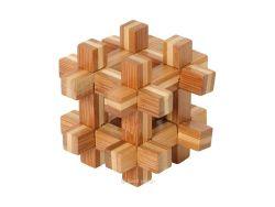 Knobelspiel/GeduldspielHolzknoten Bambus-Puzzle Kugel im Käfig