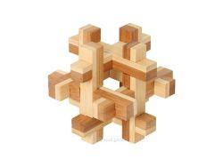 Knobelspiel/GeduldspielHolzknoten Bambus-Puzzle Quaderus