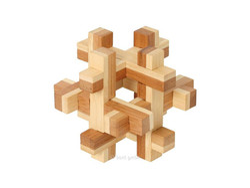 Holzknoten Bambus-Puzzle Quaderus