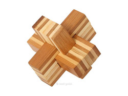 Knobelspiel/GeduldspielHolzknoten Bambus-Puzzle Teufelsknoten