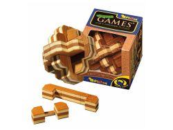 Knobelspiel/GeduldspielHolzknoten Blüten-Puzzle,Bambus