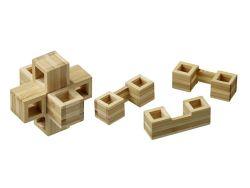 Knobelspiel/GeduldspielHolzknoten Cubycross,Bambus