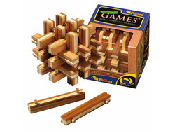 Holzknoten Lock Up Puzzle,Bambus