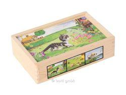 Knobelspiel/GeduldspielKinderpuzzle Bino Bilderwürfel Haustiere