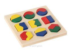 Knobelspiel/GeduldspielKinderpuzzle Bino Geometrisches Formenspiel