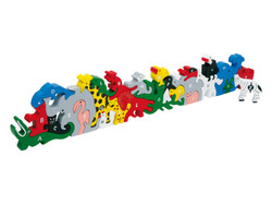 Knobelspiel/GeduldspielKinderpuzzle Buchstaben- und Zahlentiere