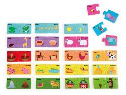 Knobelspiel/GeduldspielKinderpuzzle Lernpuzzle Gegensätze