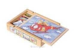 Kinderpuzzle Magnetpuzzle Set Fahrzeuge
