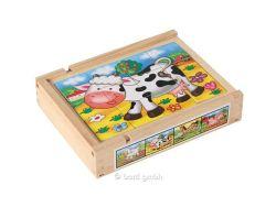 Kinderpuzzle Magnetpuzzle Set Farmtiere