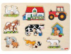 Knobelspiel/GeduldspielKinderpuzzle Steckpuzzle Bauernhof