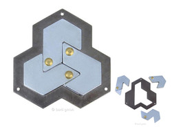 Knobelspiel/Geduldspiel Metall Cast Puzzle Hexagon