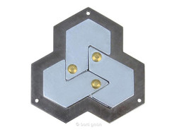 Metall Cast Puzzle Hexagon
