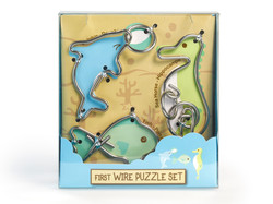 Metall Drahtpuzzle First Wire Puzzle Aquatic