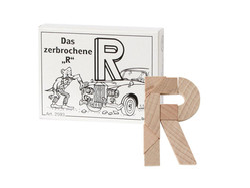 Knobelspiel/GeduldspielMini Puzzle Das zerbrochene R