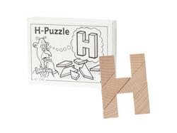 Knobelspiel/GeduldspielMini Puzzle H-Puzzle