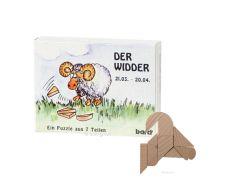 Knobelspiel/GeduldspielSternzeichen Widder, Mini Puzzle