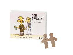 Knobelspiel/GeduldspielSternzeichen Zwilling, Mini Puzzle