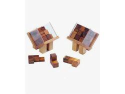 Knobelspiel/GeduldspielPackwürfel Hausdach-Würfel