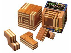 Knobelspiel/GeduldspielPackwürfel Somawürfel,Bambus