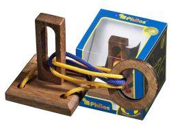 Knobelspiel/GeduldspielSeilpuzzle Verrückter Ring