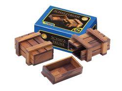 Knobelspiel/GeduldspielPuzzle mit Trick Schatztruhe
